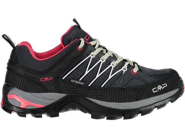 CMP Campagnolo Rigel WP Chaussures de trekking basses Femme, antracite-off white